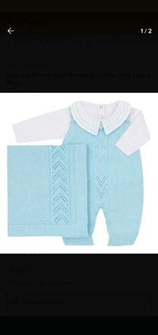 Saída de maternidade Masculina em tricô