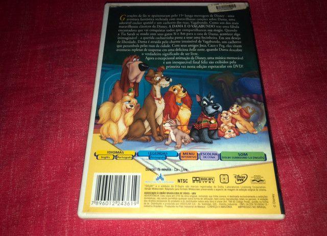 DVD A Dama e o Vagabundo - 1ª Edição - Disney  - Foto 2