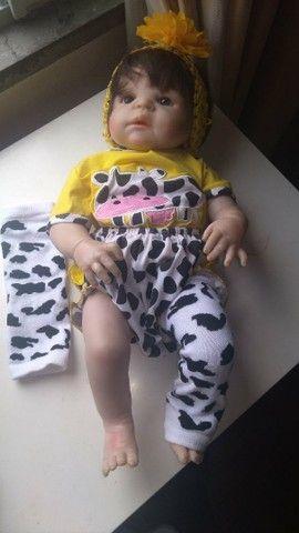 Boneca Bebê Reborn - seminova - Foto 4