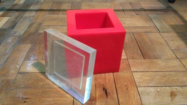 Caixa de acrílico - Balde de gelo  - década de 70 - Foto 2