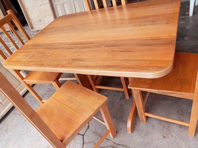 Jogo mesa nova 4 cadeiras pau mulato!!!