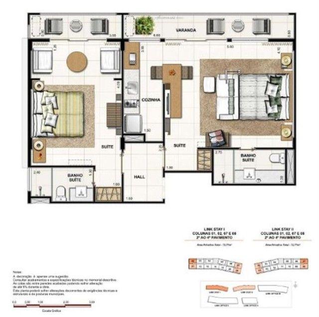 Apartamento à Venda Link Stay na Barra da Tijuca de 78m² com 2 suítes 4 banheiros e 1 vaga - Foto 11