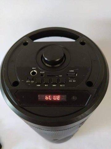 Caixa de som recarregável Bluetooth FM pendrive. Torre bazzuca - Foto 2