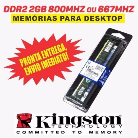 Memória Kingston Ddr2 2gb 800 mhz ou 667mhz