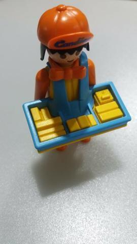 Bonecos Antigos Playmobil - Palhaços, mágico e doceiro - Foto 2