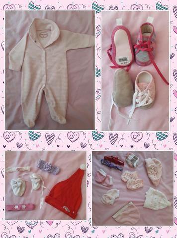 Lote de Roupas Bebê Menina 0 a 06 meses, 58 peças - Foto 4