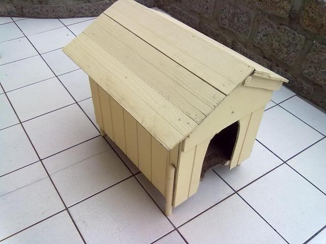 Casinha de madeira para cachorros pequenos e gatos - Foto 2