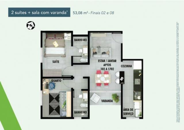 Apartamento 2 dorms no samambaia norte em Samambaia - DF - Foto 17