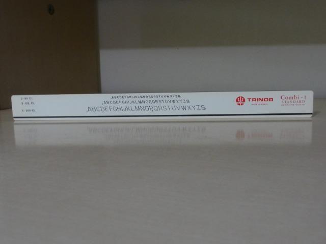 Régua Para Normógrafo Combi-1 Trident Trinor, Nova - Foto 3