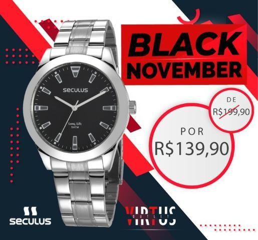 Mega Promoção de Relógio Seculus Masculino de R$ 199,90 por R$ 139,90 - Foto 6