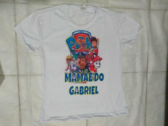 Camisas Papai e Mamãe festa - Foto 2