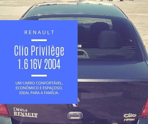 Clio Sedan 2004 1.6 16V Completo - VENDO OU TROCO POR CELTA OU PALIO - Foto 14