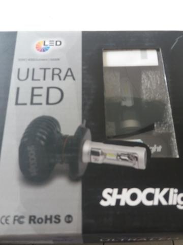 Led ultra led h3 shocklight nova na caixa garantia instalado - Foto 3