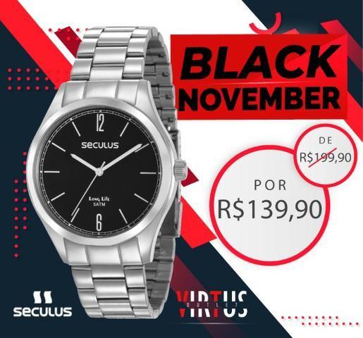 Mega Promoção de Relógio Seculus Masculino de R$ 199,90 por R$ 139,90 - Foto 2
