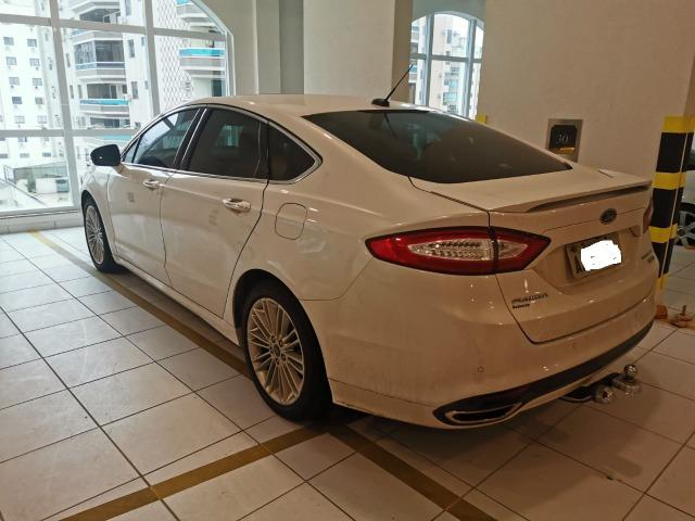 Ford/ Fusion Top de LInha - Ano 2015/2015 - Unico dono - Branco com interior caramelo - Foto 14
