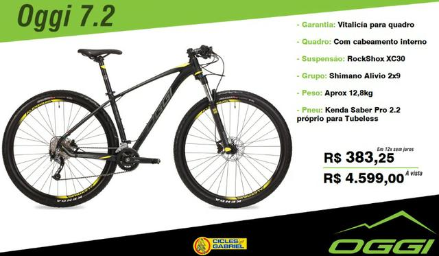 "Bicicleta Oggi 7.2 - 18v - 2019 - Tamanho 19"""