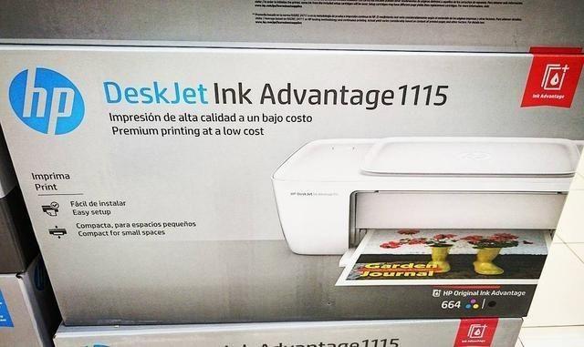 Oferta Impressora HP 1115 Lacrada com 2 Cartuchos, Lacrada ,Pronta Entrega