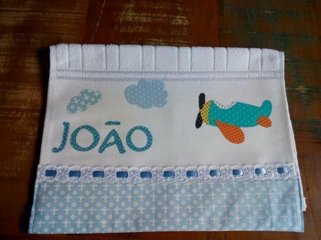 Toalhas personalizadas de boca para bebê patchapliquê