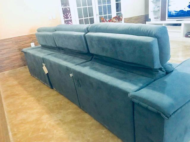Sofá retrátil e reclinável tamanho 3,20m