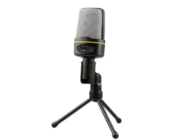 Microfone Para Gravação Vocal, Studio, no Pc, Laptop, Notebook P2 3,5mm