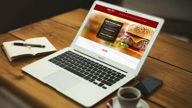 Site profissional Pizzaria e Hamburgueria