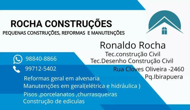 Construção ,reforma e manutenção residencial e predial