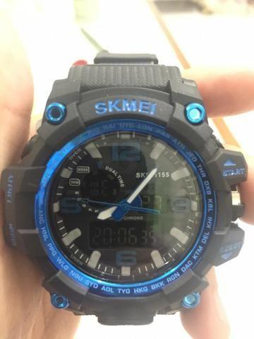Relógio masculino a prova d'água - alarme - digital e analógico