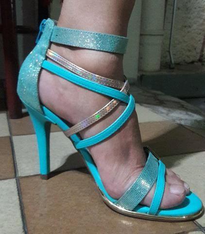 da154100e8 Sandalia Via Marte Azul Tiffany