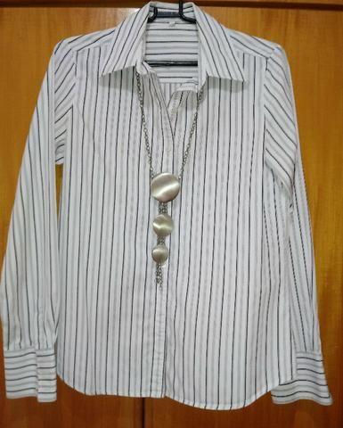cade4c6ef Camisa social listrada da Le Lis Blanc - Tam P ( blusa feminina ) (whatsapp