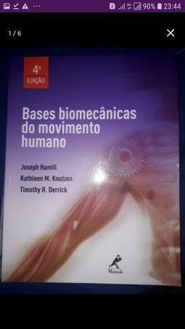 Três livros: Bases Biomecânicas, fisiologia e Cinesiologia estrutural