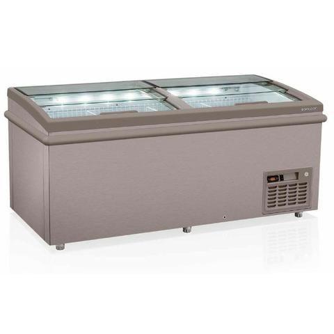 Freezer Expositor Horizontal Ilha para congelados eletrofrio semi novo - Foto 2