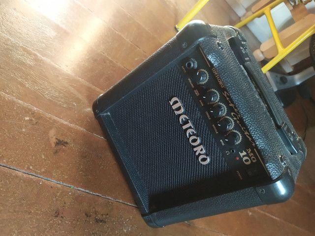 Guitarra Tagima Tg 530 versão Woodstock + Amplificador Meteoro MG10 - Foto 5