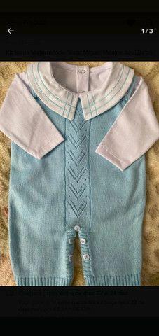 Saída de maternidade Masculina em tricô - Foto 3