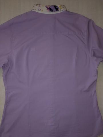Camisa Feminina Lilás-Grife Amarelo Mel - Foto 4