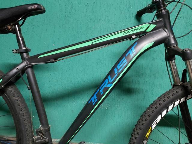 Bike mtb aro 29 trust freios a disco