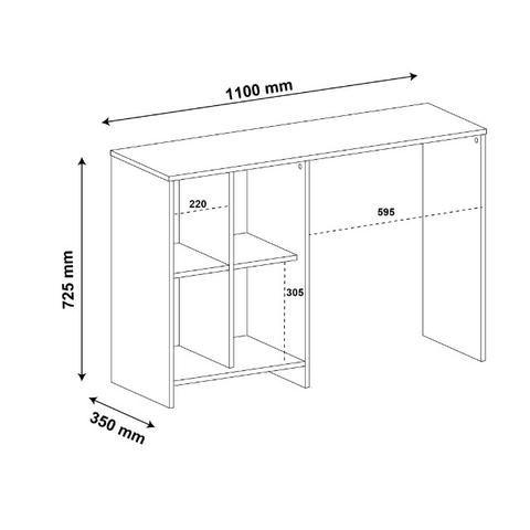 Mesa escrivaninha matrix branco - Foto 4