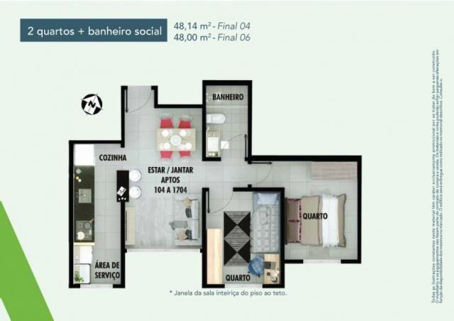 Apartamento 2 dorms no samambaia norte em Samambaia - DF - Foto 16