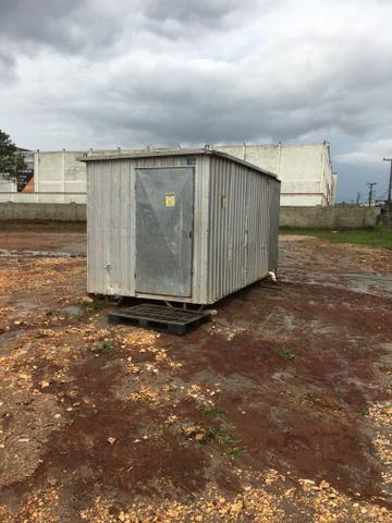 Container e banheiro móvel para sua obra