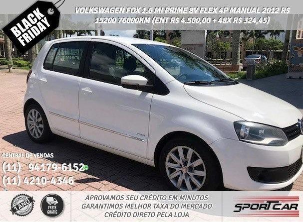 Branco Volkswagen Fox 1.6 mi prime 8v flex 4p manual 2012 R$ 15.246 76028km