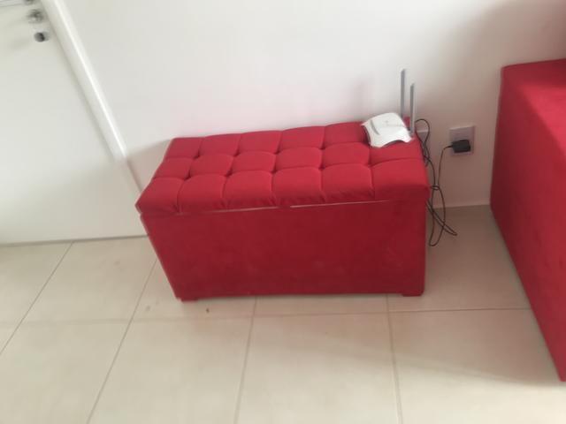 Sofá mesa de centro e puff baú 550 - Foto 2