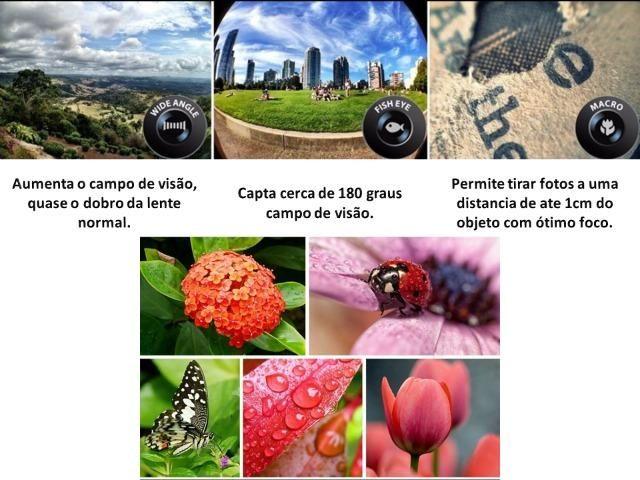 Kit De Lentes Para Fotografia 3 Em 1 Para Celular - Foto 3