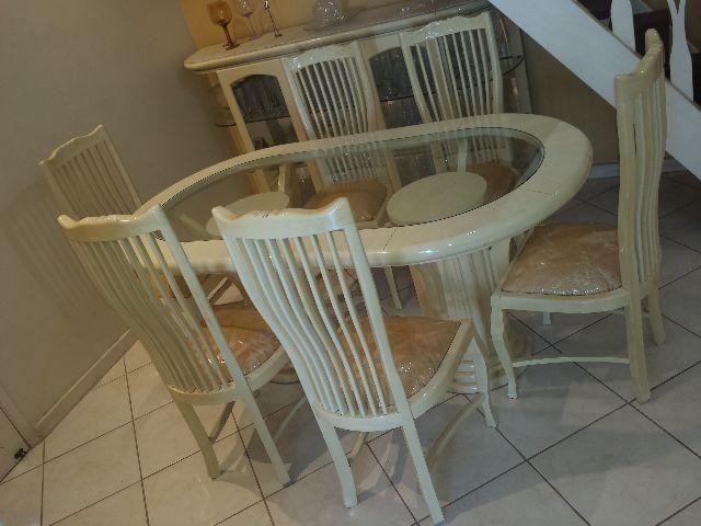 Mesa de Jantar Clássica C/6 Cadeiras Estofadas