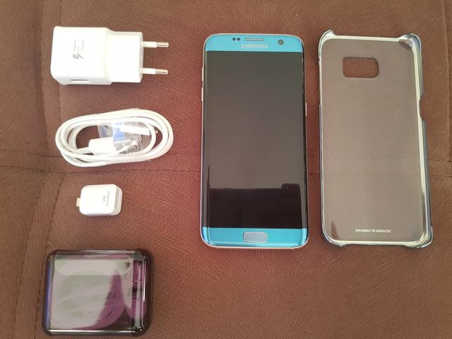 Sansung Galaxy S7 Edge Azul Coral perfeito com NF e garantia até março