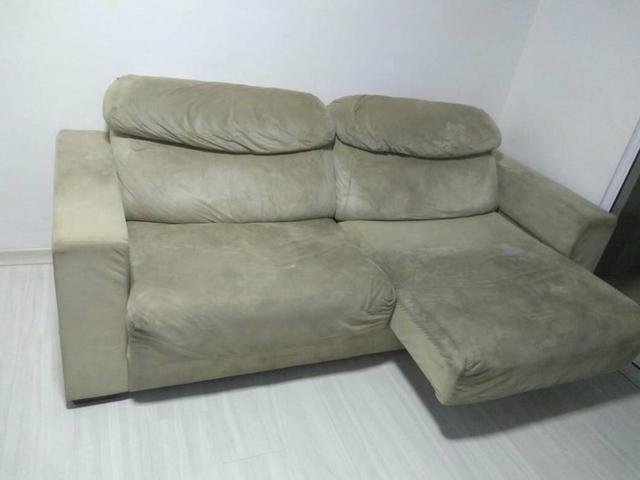 Sofá retrátil e reclinável 4 lugares