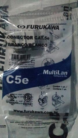 Conector cat6 cat5e femea