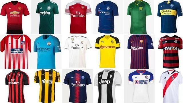 Camisas Clubes Nacionais Europeus Atacado