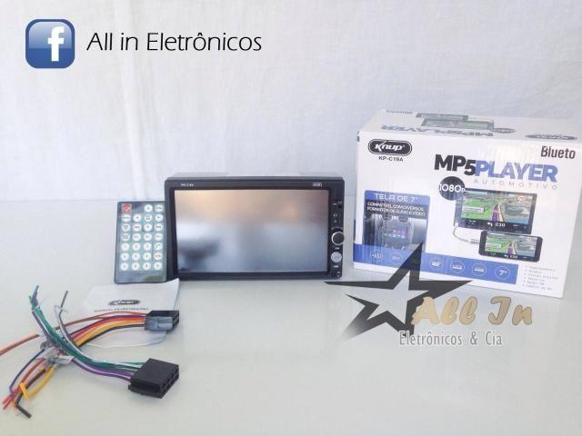 Central Multimídia MP5 Player KP-C19A Knup 7' Bluetooth SD Espelhamento de Celular