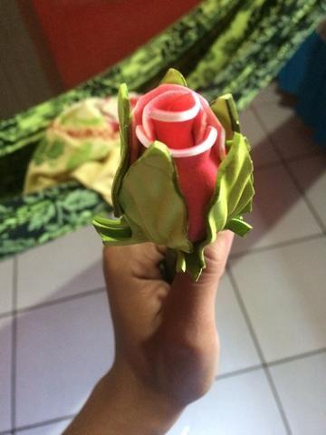 Linda caneta em formato de rosas
