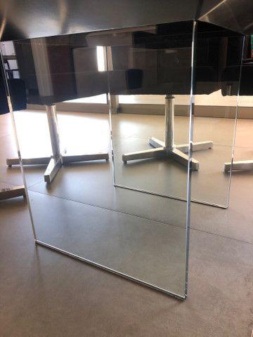 Mesa 8 lugares tampo de espelho bronze - Foto 5