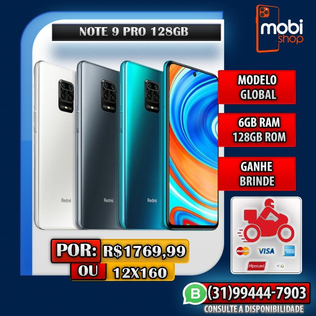Xiaomi Note 9 Pro 128GB / Promoção / 12x160